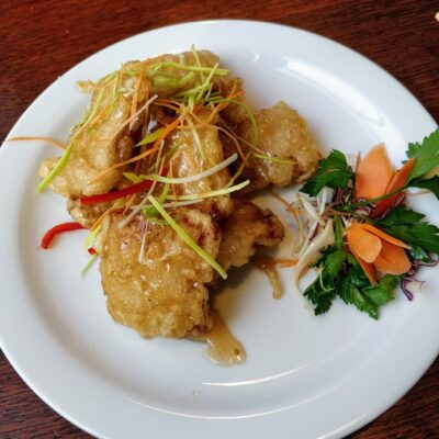 Crispy Pork in Special Made Sweet Sour Sauce
